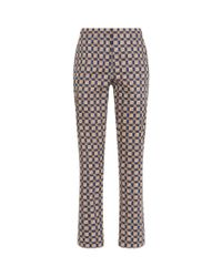 Burberry Blue Tiled Archive Cigarette Trousers
