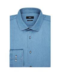 BOSS Blue Jenno Denim Shirt for men