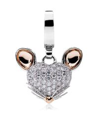 Theo Fennell - White Woodland Mouse Charm - Lyst