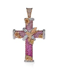 Theo Fennell | Pink Magical Dawn Cross Pendant | Lyst