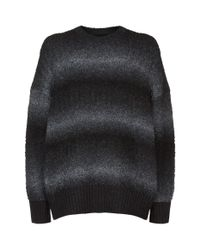 AllSaints - Black Ikarus Gradient Sweater for Men - Lyst