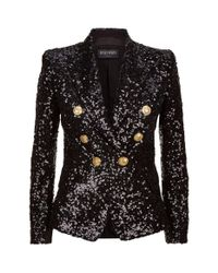 Balmain Black Sequin Blazer