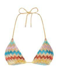 Missoni - Multicolor Zig Zag Triangle Bikini Top - Lyst