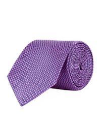 Turnbull & Asser   Purple Puppy Tooth Silk Tie for Men   Lyst