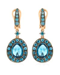Annoushka | Blue Dusty Diamonds Topaz Drop Earrings | Lyst