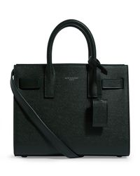 Saint Laurent Green Nano Leather Sac De Jour Tote Bag