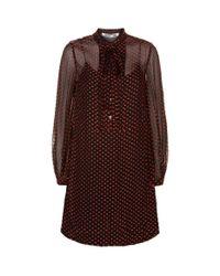 McQ Alexander McQueen - Black Pin Tuck Sheer Hem Midi Dress - Lyst