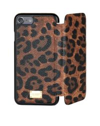 Dolce & Gabbana Multicolor Leopard Iphone 7 Cover With Flap