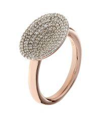Links of London - Metallic Diamond Essentials Concave Ring - Lyst