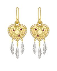 Theo Fennell - Metallic Dreamcatcher 'art Earrings - Lyst