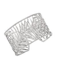Theo Fennell | White Palm Diamond Cuff | Lyst