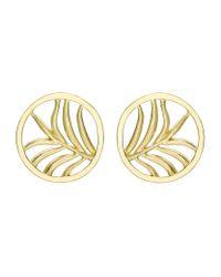 Theo Fennell - Metallic Large Palm Diamond Disc Earrings - Lyst
