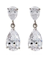 Carat* | Metallic Diamond Pear Drop Earrings | Lyst