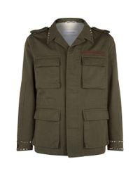 Valentino Green Studded Caban Jacket for men