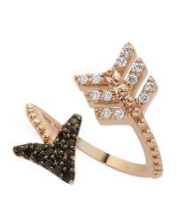 Bee Goddess - Black Diamond Eros Arrow Midi Wrap Ring - Lyst