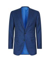 Stefano Ricci | Blue Microcheck Blazer Jacket for Men | Lyst