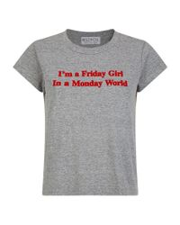 Wildfox Gray Friday Girl T-shirt for men