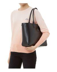 Longchamp Black Roseau Reversible Small Tote Bag