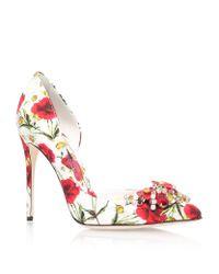 Dolce & Gabbana Multicolor Embellished Daisy Court