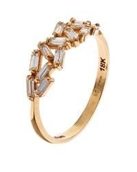 Suzanne Kalan - Metallic Gold Chevron Diamond Ring - Lyst