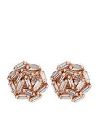 Suzanne Kalan | Multicolor Rose Gold Diamond Round Earrings | Lyst