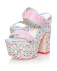 Sophia Webster - Pink Skye Crystal Platform Mules - Lyst