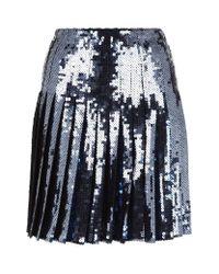 Emilio Pucci Metallic Pleated Sequin Skirt