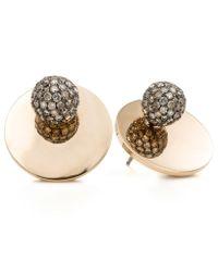 Spinelli Kilcollin | Metallic Saturn Gold Stud Earrings | Lyst