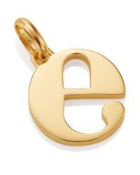Monica Vinader | Metallic Gold Lower Case E Pendant | Lyst