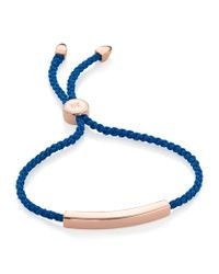 Monica Vinader   Pink Linear Friendship Bracelet   Lyst