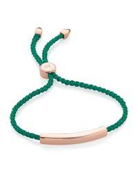Monica Vinader | Green Havana Sterling Silver Friendship Bracelet | Lyst