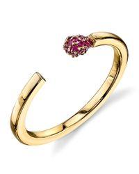 Sydney Evan | Metallic Matchstick Ruby Ring | Lyst
