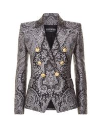 Balmain | Multicolor Brocade Double-breasted Blazer | Lyst