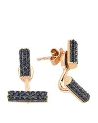 Bee Goddess - Multicolor Happy Lucky Blue Sapphire Earrings - Lyst
