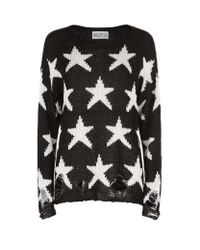 Wildfox | Black Lennon Seeing Stars Sweater | Lyst