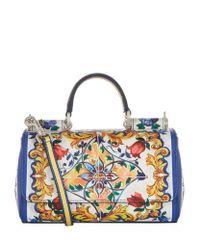 Dolce & Gabbana | Blue Sicily Majolica Print Mini Bag | Lyst