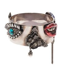 Alexander McQueen - Multicolor Lucky Star Embellished Cuff - Lyst