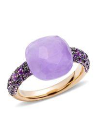 Pomellato - Pink Jade Rose Gold Capri Ring - Lyst