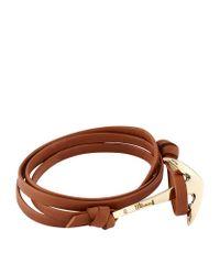 Miansai | Brown Leather Wrap Anchor Bracelet | Lyst