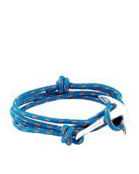 Miansai - Blue Rope Wrap Anchor Bracelet - Lyst