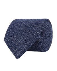 Harrods | Blue Textured Plain Tie for Men | Lyst