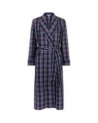 Derek Rose | Blue Barker Pipe Check Robe for Men | Lyst