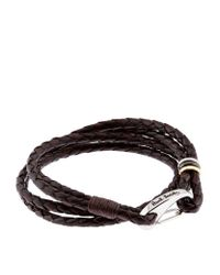 Paul Smith - Brown Leather Rope Bracelet for Men - Lyst
