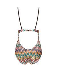 Missoni - Multicolor Zig Zag Knit Swimsuit - Lyst