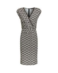 Weekend by Maxmara   Black Zitto Geometric Print Jersey Wrap Dress   Lyst