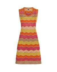 M Missoni | Multicolor Striped Wave Lurex Dress | Lyst