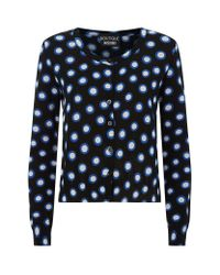 Boutique Moschino | Blue Polka-dot Cardigan | Lyst