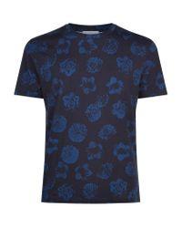 Sandro - Blue Calvi Floral T-shirt for Men - Lyst