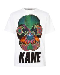 Christopher Kane | Multicolor Psychedelic Flower Logo T-shirt for Men | Lyst