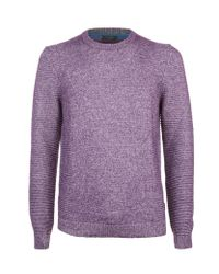 Ted Baker | Purple Debut Chunky Knit Jumper for Men | Lyst
